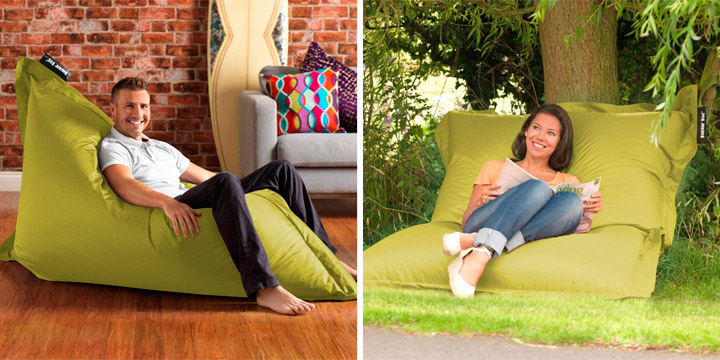 Giant puff cushion for outdoor or sleeping
