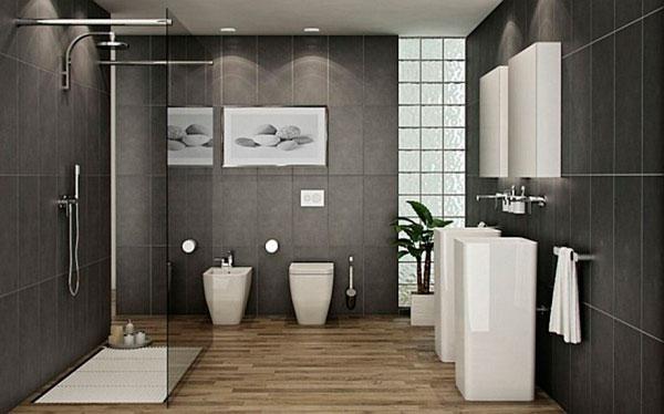 Reforma de baño moderno en negro