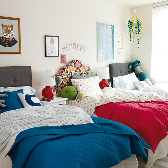 Combinar colores en dormitorios compartidos