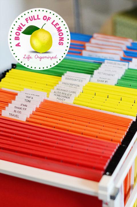 Carpetas de organización para documentos