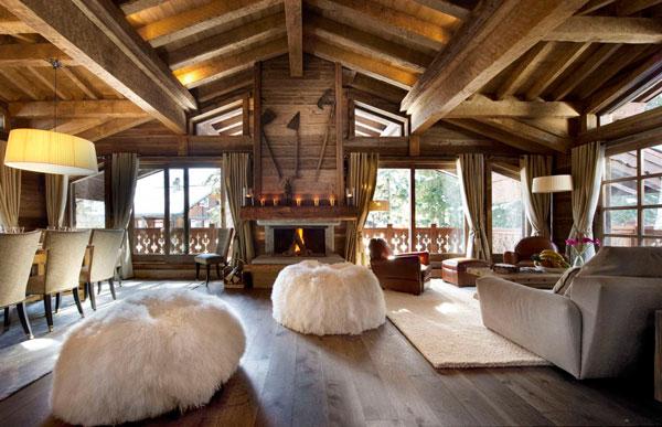 Decoración en diseño de interiores con madera
