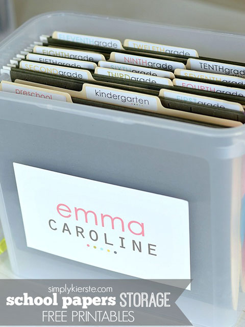 Caja organizativa para niños