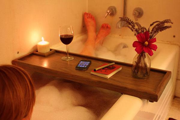 Bandeja para darse un baño relajante