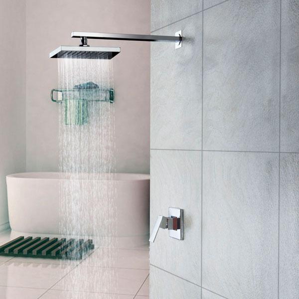 9 formas de hacer que tu lavabo parezca m s caro for Ducha lluvia