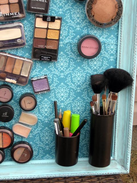 DIY hacer un marco magnético para guardar el maquillaje