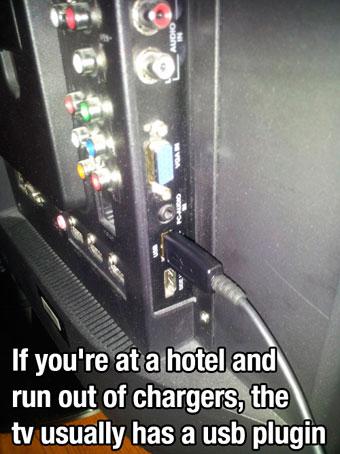 Cargar el móvil con el USB de la tele