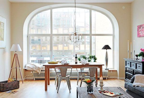 Muebles de estilo escandinavo calido y acogedor