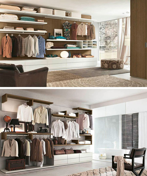 Fotos de armarios abiertos para dormitorios modernos - Armarios para habitaciones pequenas ...
