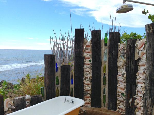 Ducha al aire libre barata en Jamaica