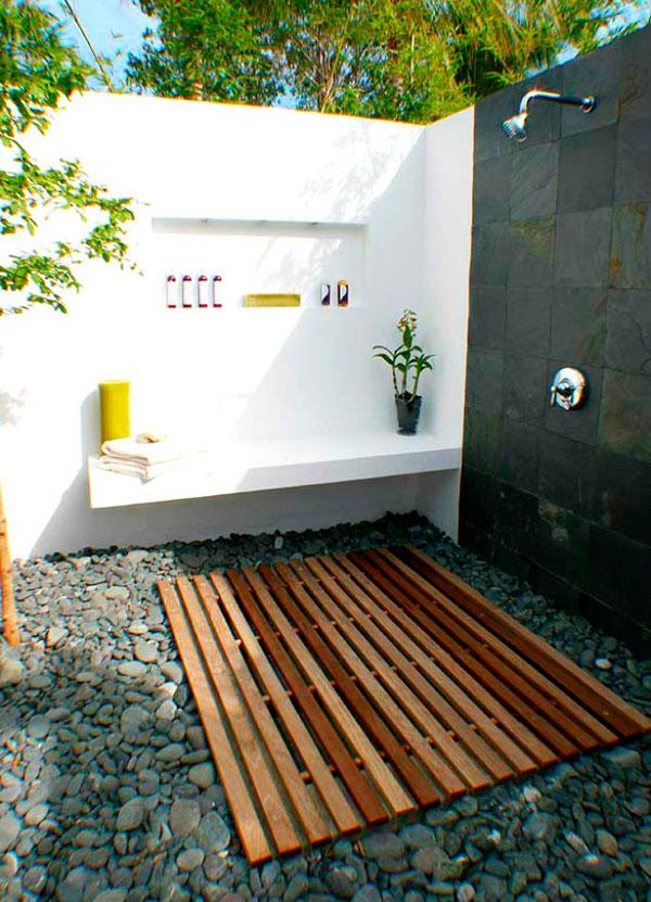 Duchas al aire libre ideas y fotos decorar hogar Ideas para duchas de obra