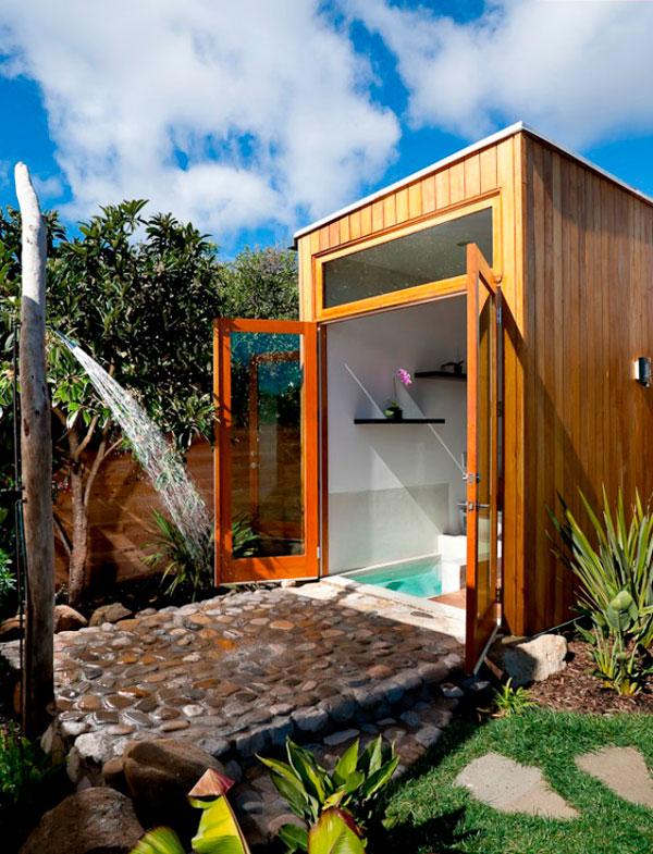Duchas al aire libre ideas y fotos decorar hogar for Duchas para piscinas exterior