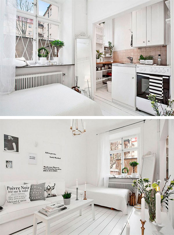 apartamento de estilo escandinavo pequeño