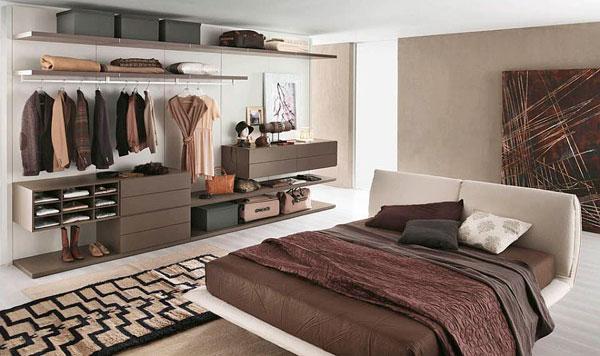 Fotos de armarios abiertos para organizar la ropa del dormitorio