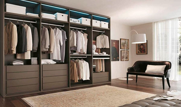 fotos de armarios abiertos para dormitorios modernos. Black Bedroom Furniture Sets. Home Design Ideas