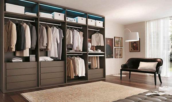 Fotos de armarios abiertos para dormitorios modernos for Closet modernos para hombres