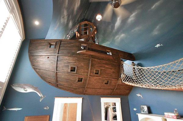 Barco decoracion un dormitorio para niños