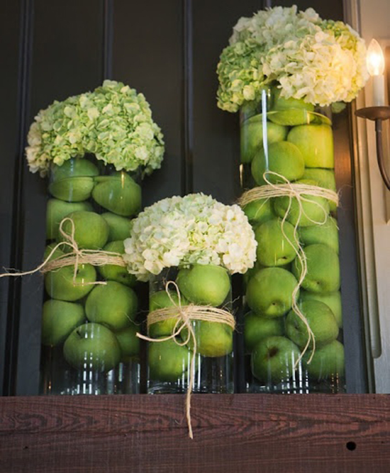 Preciosos centros frutales para decorar