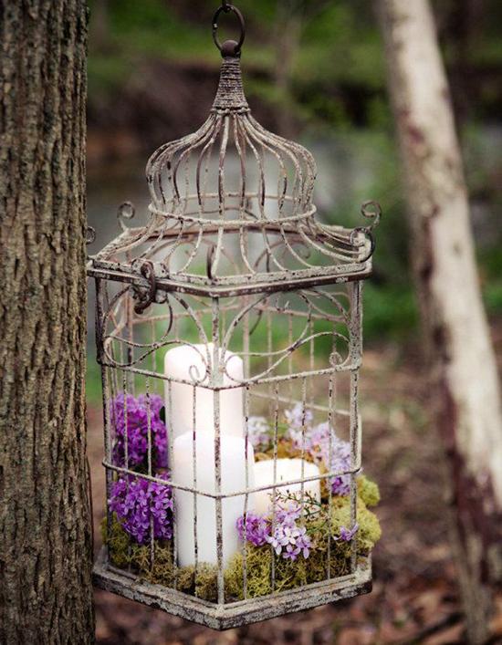 Ideas para decorar bodas con jaulas de pájaros