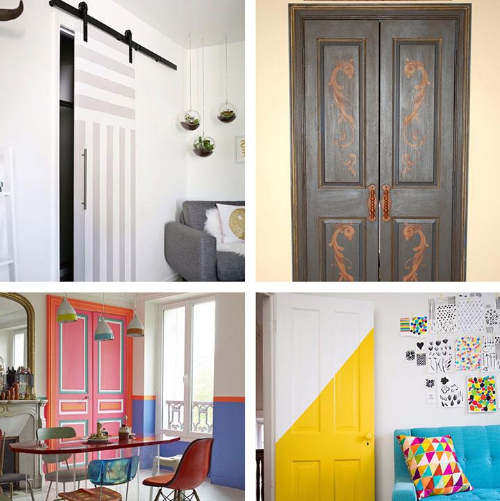 Decorar puertas pintadas de forma original