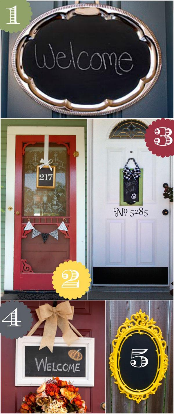 Decorar puertas de casa con pintura de pizarra