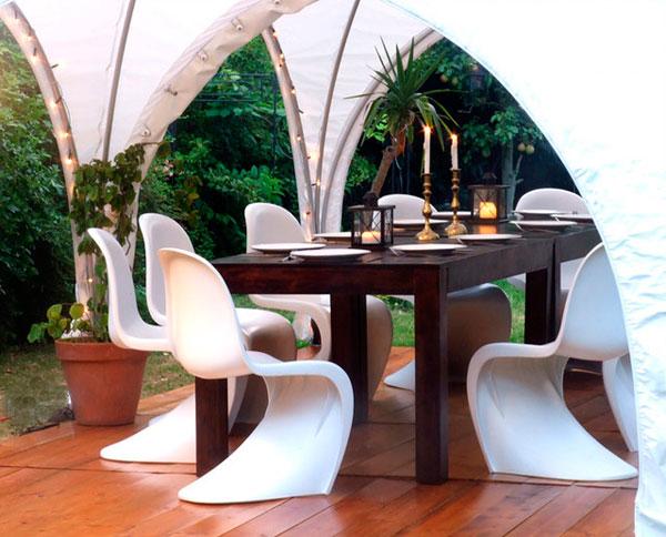 Silla Panton para decorar terrazas y jardines