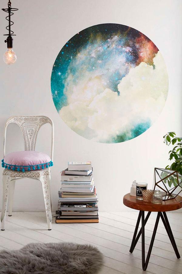 Vinilo de nebulosa espacial en la pared