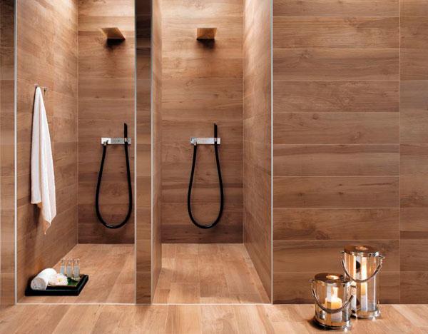 Baños de diseño de color cálido