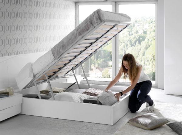 Camas tipo canape para ahorrar espacio