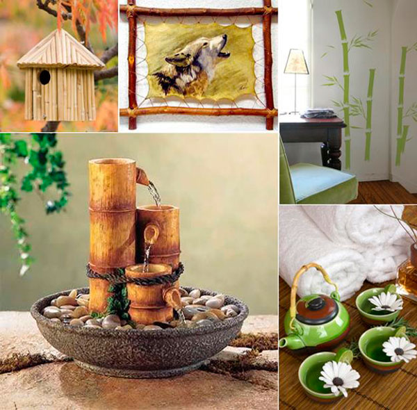 Ideas para decorar con bamb muchas fotos - Cana bambu decoracion ...