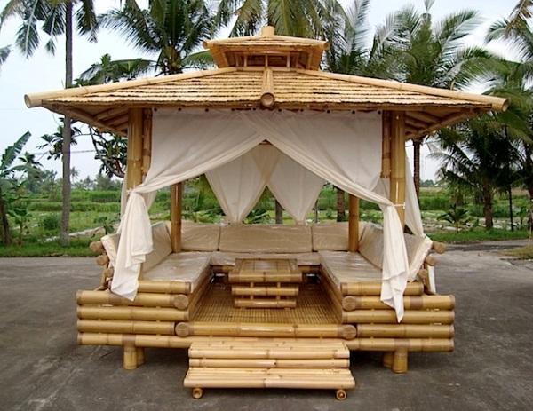 Pergola de bambu para el exterior