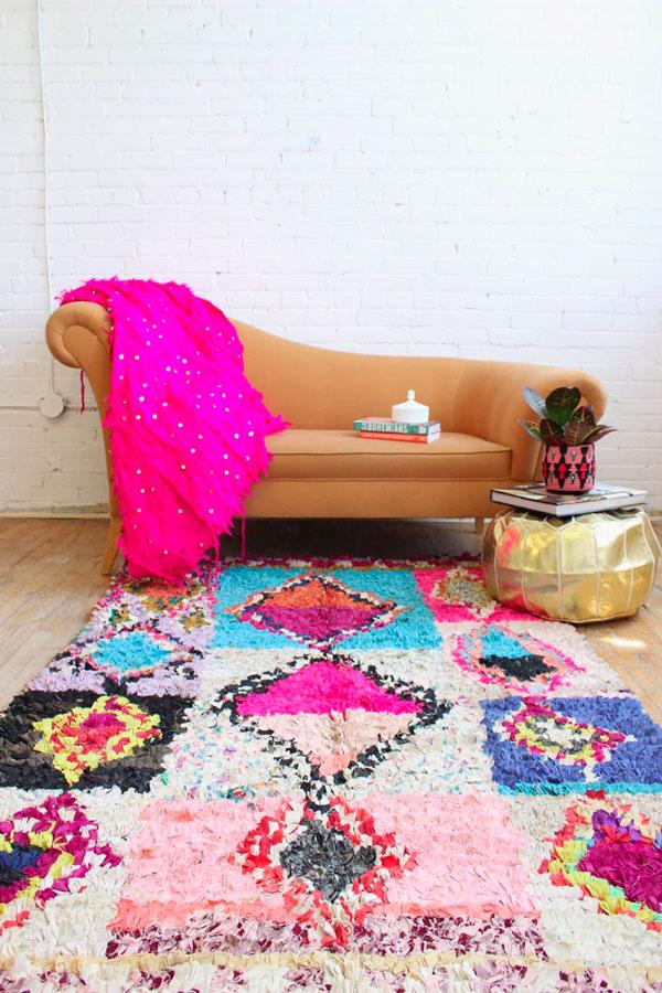 Novedades en alfombras coloridas por Baba Souk