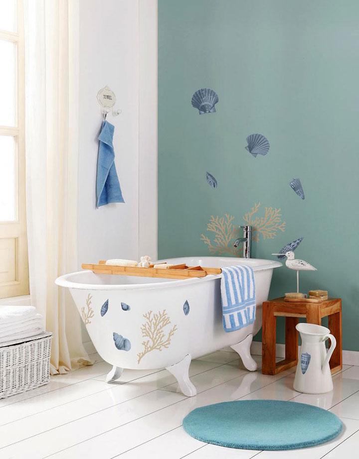 Decoración de cuarto de baño sin azulejos