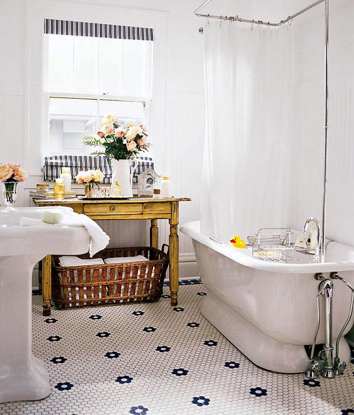 Decorar cuarto de baño estilo ecléctico retro industrial