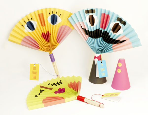 C mo hacer abanicos de papel divertidos qu caloooor - Abanicos para decorar ...
