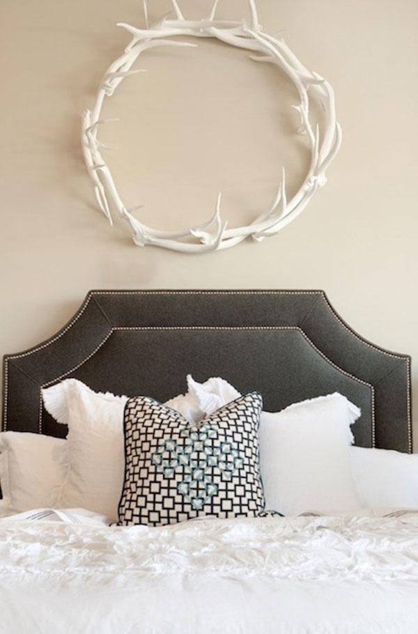 Artesanía para el dormitorio con cuernos de ciervo