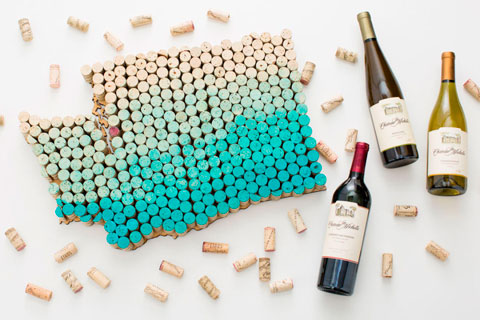 Manteles de corchos de vino