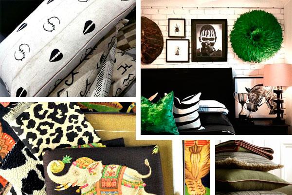 Estampados étnicos africanos en tendencias de diseño de interiores para 2016