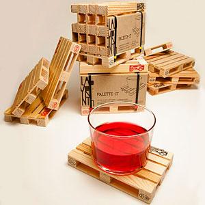 Posavasos mini palets de madera para regalar