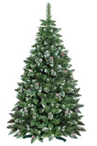 rbol de navidad artificial con las puntas nevadas