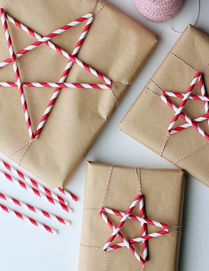 Cómo envolver regalos de Navidad con papel Craft