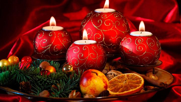Que velas se ponen en Navidades