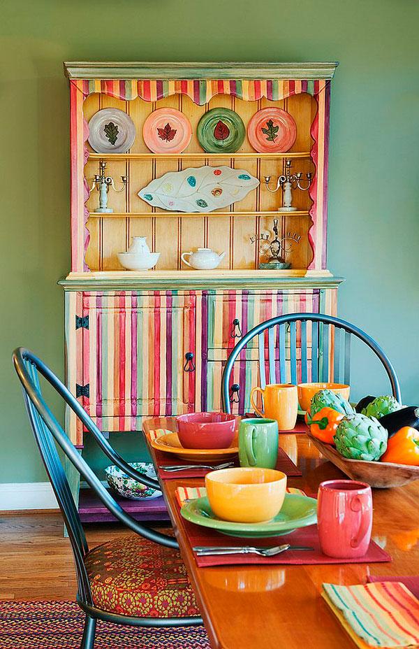 Comedor ecléctico: Ideas de colores