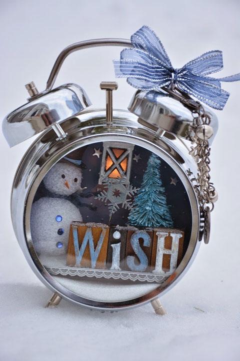 Despertador DIY decorado para Navidad