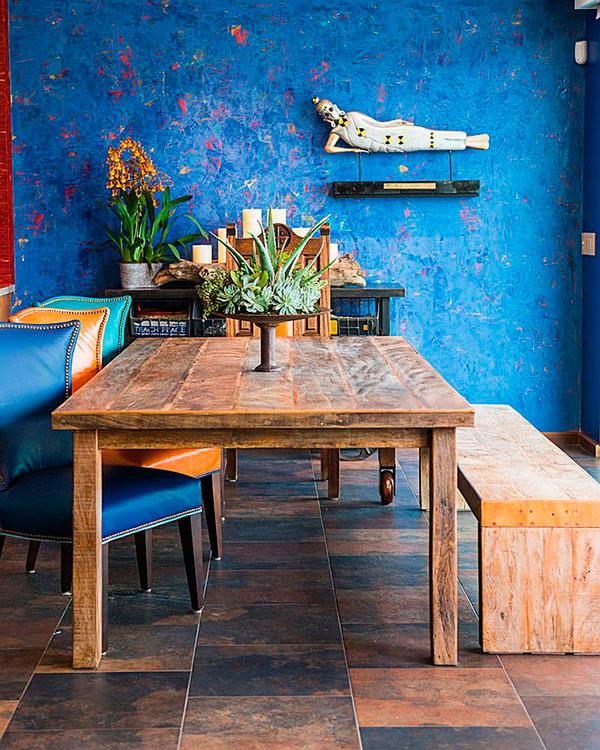 Mesa de estilo ecléctico en decoración de comedores