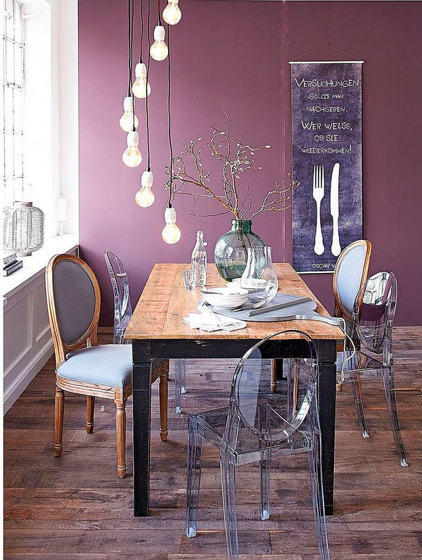 comedor ecléctico mesa vintage