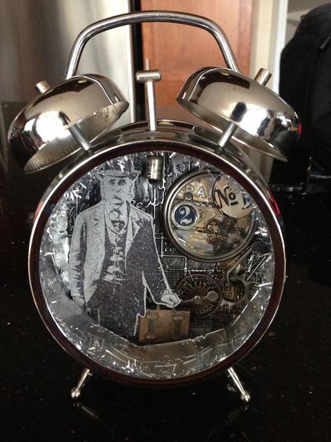 Reloj despertador antiguo para hombres