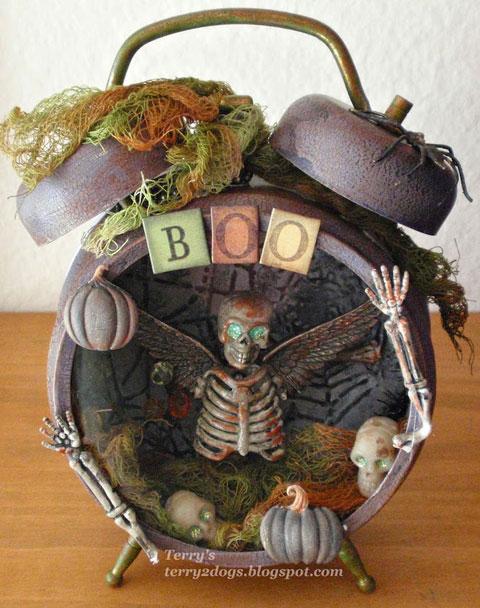 Reloj despertador vintage personalizado para Halloween