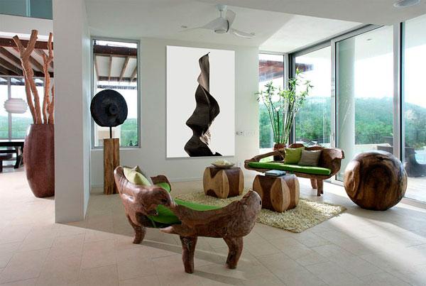 Muebles orgánicos en salones 2016