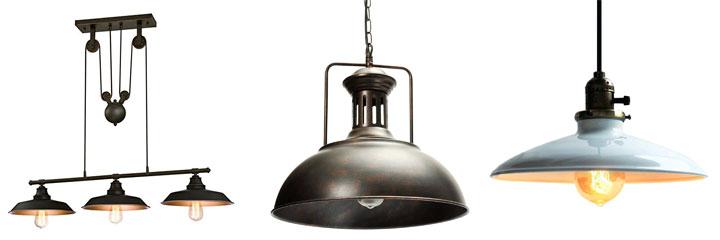 Lámparas de techo vintage industrial antiguas