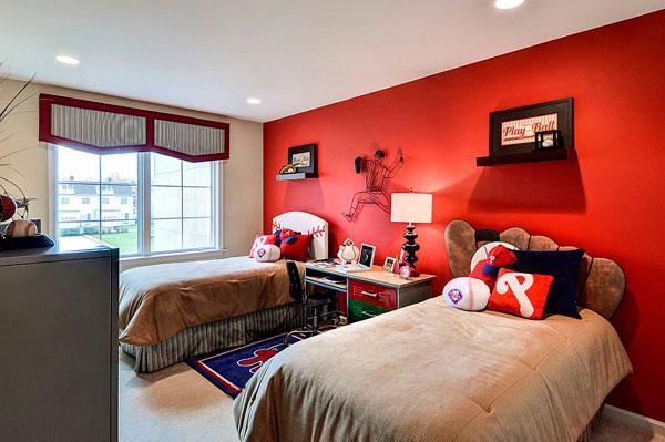 Pintar dormitorios infantiles en color rojo